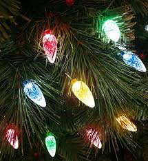 christmas tree lights amazon uk 100x multicoloured led faceted cone light set indoor outdoor