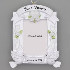 personalized wedding ornament wedding photo frame ornament with stand personalized