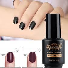 amazon com matte top coat gel nail polish 8ml clear uv led