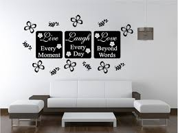 6 wall decorations live love wall art sticker quote bedroom wall decorations