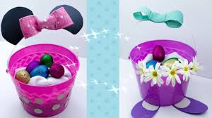 minnie mouse easter baskets diy disney easter egg baskets