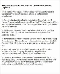 sample human resource administration resume free human resources