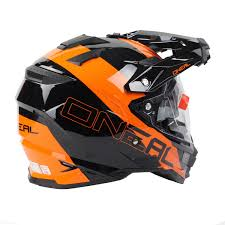 helmets for motocross oneal 2018 sierra dual sport edge black orange helmet at mxstore