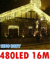 Outdoor Icicle Lights Waterproof Outdoor 480 Led 16m Icicle Lights For Garden