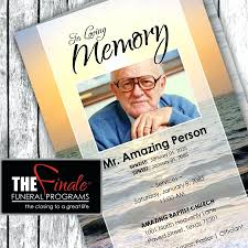 funeral programs template template funeral program template for word