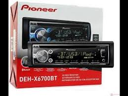 pioneer deh x6700bt bluetooth stereo receiver review youtube