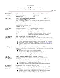 Sample Resume Information Technology Information Technology Resume Template Free Resume Example And