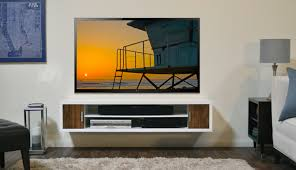 Tv Wall Furniture Modern White Wall Mount Tv Media Console Cardiff By Woodwavesinc