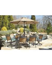 Outdoor Patio Set With Umbrella Savings On Carmadelia Collection P376rect4c2scu 8