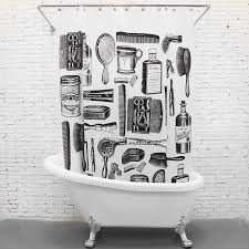 decorative black and white funny shower curtains