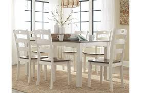 Ashley Dining Room Tables And Chairs Woodanville Dining Room Table And Chairs Set Of 7 Ashley