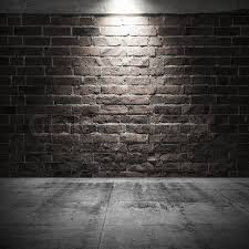 dark wall abstract dark interior background with concrete floor and brick