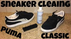how to clean light suede shoes sneaker cleaning for classic suede pumas youtube