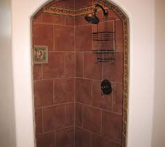 Decorative Tile Borders Bathroom Fleur De Lis Saltillo Tile With The Same Terra Cotta Saltillo Tile