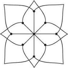 rangoli patterns using mathematical shapes 9x9 dot rangoli step 1 geometry class six pinterest rangoli