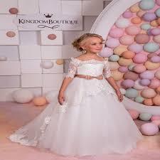 robe de fille pour mariage sirène fleur fille robes pour le mariage tulle première communion