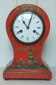 antiques atlas unusual red chinoiserie balloon clock