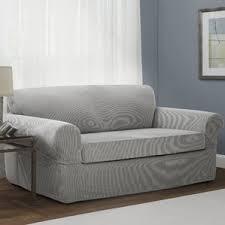 Sofa Slipcovers With Separate Cushions Sofa Slipcovers You U0027ll Love Wayfair