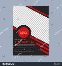 simple modern business brochure design template stock vector