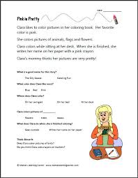this printable story and reading comprehension worksheet is about