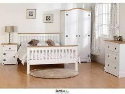 Corona Mexican Pine Bedroom Furniture Corona White Mexican Pine Bedroom Furniture Wardrobe 2 2 Drawer