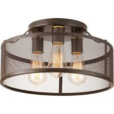 homeselects x light 2 light bronze flush mount ceiling light progress lighting swing bronze finish steel porcelain 3 light flush