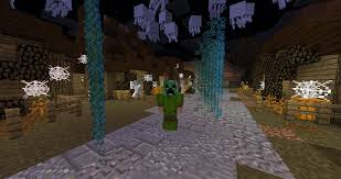 minecraft halloween city trick or treat