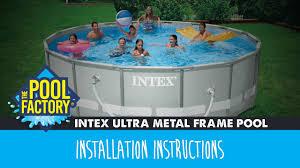Intex Pool 14x42 Intex Ultra Metal Frame Pool Instructions Youtube
