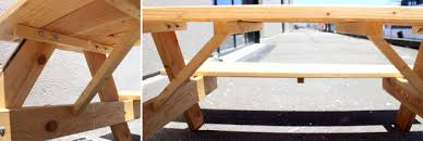 Hammer Wooden Picnic Tables And Outdoor Serving Tables Discover by Picnic Table Drink Trough 18 Steps With Pictures