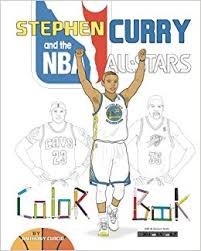 stephen curry nba stars basketball coloring book