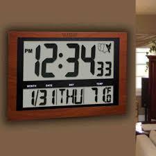 lighted digital wall clock lighted digital atomic wall clock