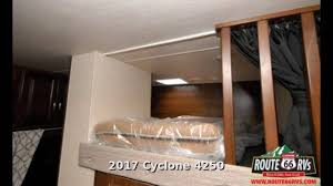 Cyclone Toy Hauler Floor Plans by 2017 Heartland Cyclone 4250 Fifth Wheel Toy Hauler In Claremore
