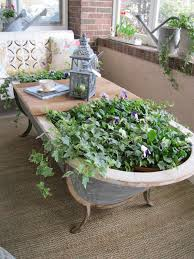 Bathtubs Clawfoot Old Bath U003e Planter Coffee Table For Your Patio Coffee Table
