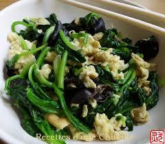 cuisiner epinard recettes d une chinoise épinards chinois sautés avec chignons