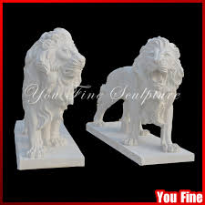 marble lion handcarved garden white marble lion sculpture statue for sale