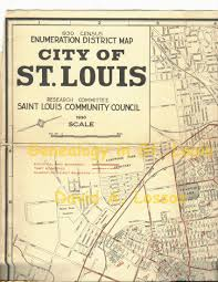 Map St Louis 1930 Federal Census