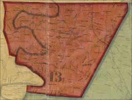 Washington County Map Thomas Taggert A Map Of Washington County 1859 District 13