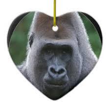 sweet gorilla ornaments keepsake ornaments zazzle