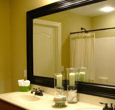 Framed Bathroom Mirrors Bathroom Cabinets Fancy Oak Framed Bathroom Mirrors How To Frame