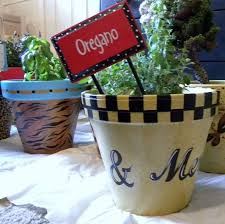 Painting Garden Pots Ideas Painted Clay Pots By Granart Hometalk