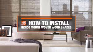 how to install inside mount woven wood window shades decor how