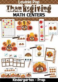 thanksgiving math centers for kindergarten in my world