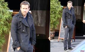ryan reynolds grey jacket pea coat grey pants converse chuck