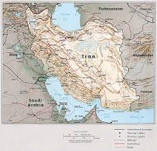 A Map Of The Middle East by