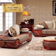 High End Leather Sofas New High End Living Room With Leather Sofa Fabric Sofa 90351918a
