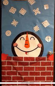Door Decorations For Winter - a snowman classroom door decoration