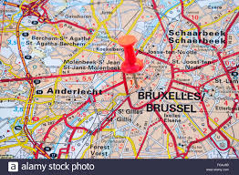 Brussels Germany Map Map Of Brussels Capital City Belgium Stock Photo Royalty Free