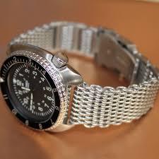 bracelet bands ebay images 22mm shark mesh bracelet watch band diver 39 s s steel suits seiko jpg