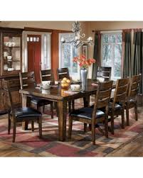 Dark Dining Room Table Autumn Special Ashley Furniture Signature Design Larchmont