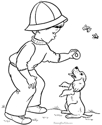 kid coloring pages puppy